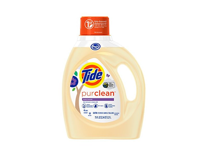 Tide PurClean Liquid Laundry Detergent for Regular and HE Washers, Honey Lavender Scent, 75 Ounce
