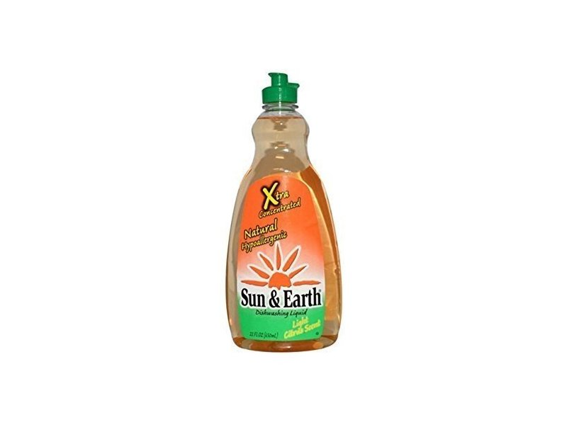 Sun & Earth Xtra Dish Liquid Citrus, 22 Fl oz