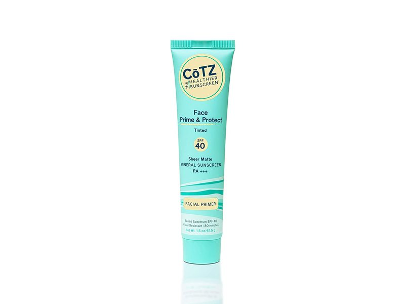 Cotz Face Prime & Protect, Sheer Matte Sunscreen, SPF 40, Tinted, 1.5 oz / 42.5 g