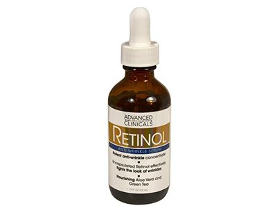 Advanced Clinicals Professional Strength Retinol Serum. Anti-aging, Wrinkle Reducing, 1.75 Fl Oz.