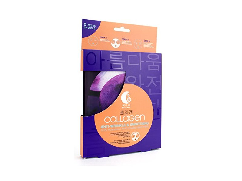 Berry Moon Korean Sheet Mask with Collagen, 5 Sheet Mask