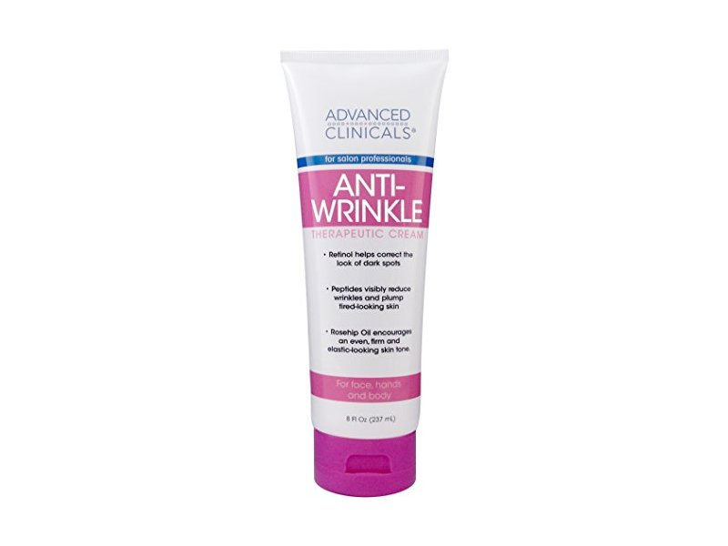 Advanced Clinicals Anti-Wrinkle Cream with Retinol for Face, Hands, and Body 8 fl. oz.