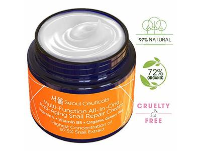 SeoulCeuticals Multi-function All-in-one Anti-Aging Snail Repair Cream 2oz