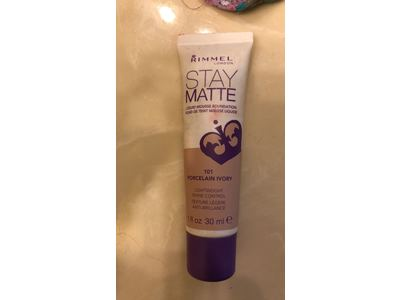 Rimmel Stay Matte Foundation, Porcelain Ivory, 1 Fluid Ounce - Image 3