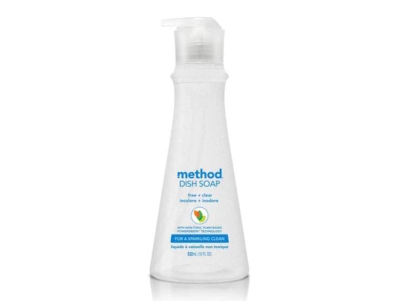 Method Dish Soap, Free + Clear, 18 fl oz