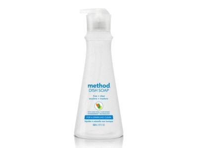 Method Dish Soap, Free + Clear, 18 fl oz