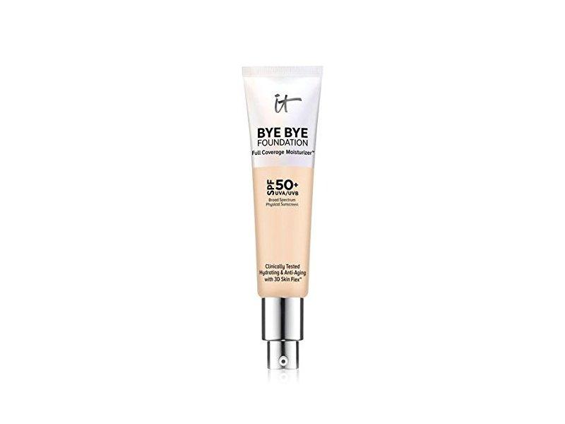 IT Cosmetics Bye Bye Foundation Full Coverage Moisturizer with SPF 50+, LIGHT, 1 oz