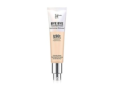 IT Cosmetics Bye Bye Foundation Full Coverage Moisturizer with SPF 50+, LIGHT, 1 oz