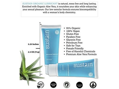 Sustain Natural Personal Lubricant Unscented - Image 6
