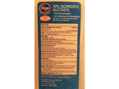 Kroger 70% Isopropyl Alcohol, 16 fl oz - Image 4