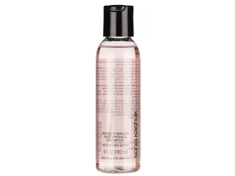 Sonia Kashuk Makeup Brush and Sponge Shampoo and Cleanser, Rosewater, 4 fl oz