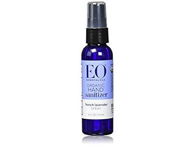 EO Hand Sanitizer Spray Organic Lavender, 2 Oz