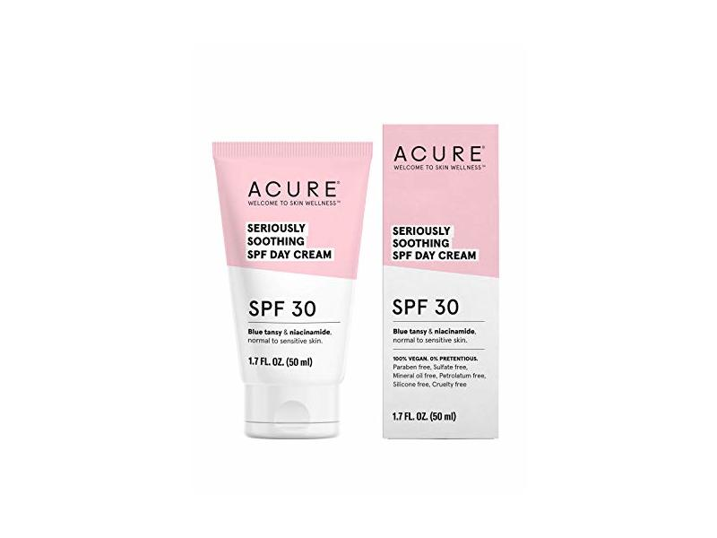 ACURE Seriously Soothing SPF 30 Day Cream - Blue tansy & Niacinamide 1.7 Fl Oz