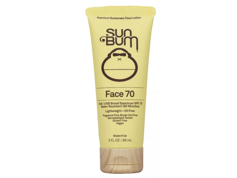 Sun Bum Face 70 Lotion, SPF 70, 3 fl oz / 88 mL