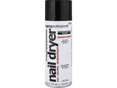 Onyx Professional Spray On Nail Dry, Island Coconut Scent, 7.5 oz