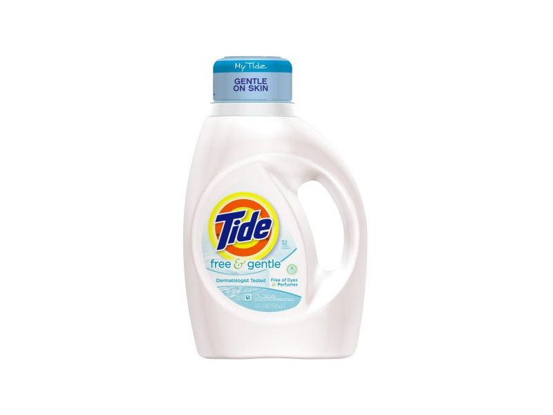 Tide Free & Gentle Liquid Laundry Detergent, 50 fl oz ...