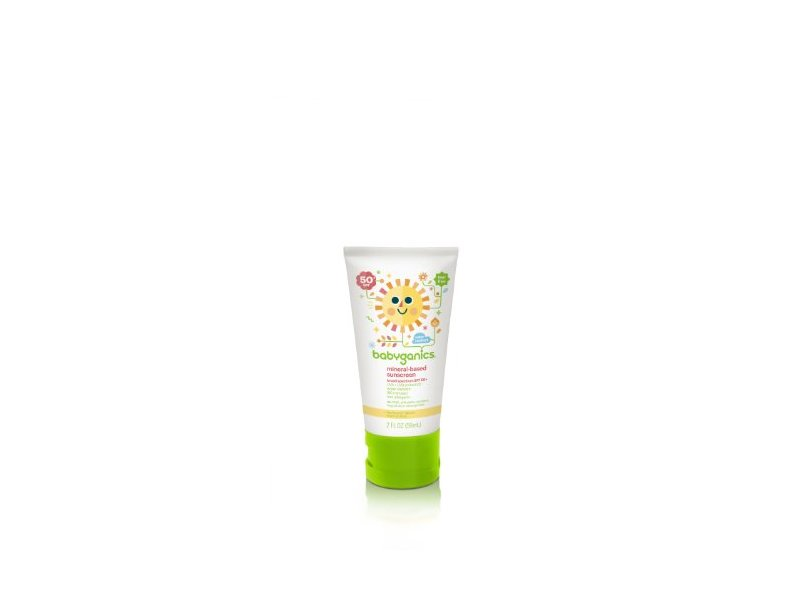 Babyganics Mineral-Based Sunscreen 50 SPF, On-The-Go 2-Ounce Tube (Pack of 4), Packaging May Vary