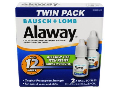 Alaway Antihistamine Eye Drops Ingredients and Reviews