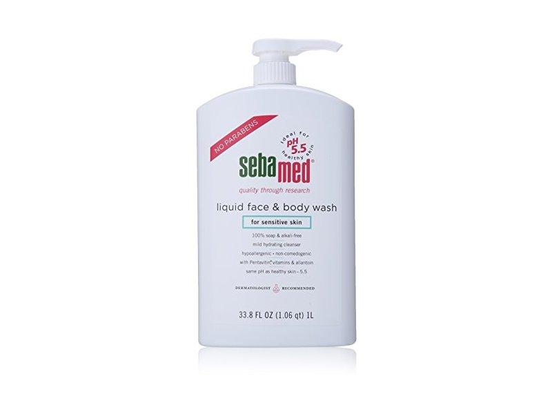 SebaMed Liquid Face and Body Wash for Sensitive Skin, 33.8 fl. oz.