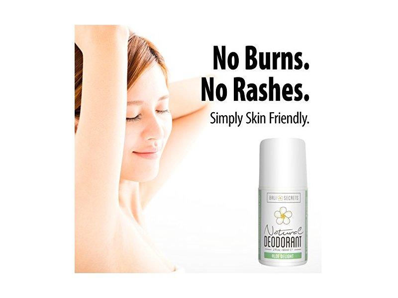 Bali Secrets Natural Deodorant, Aloe Delight, 2 fl. oz.
