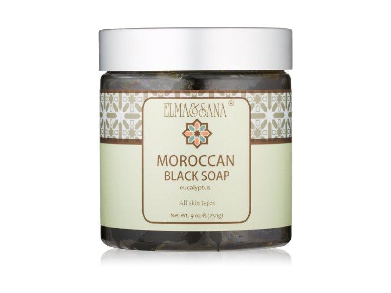 Elma and Sana Moroccan Black Soap, Eucalyptus, 9 Ounce