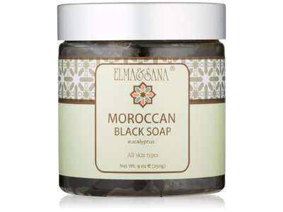 Elma and Sana Moroccan Black Soap, Eucalyptus, 9 Ounce