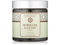 Elma and Sana Moroccan Black Soap, Eucalyptus, 9 Ounce - Image 2