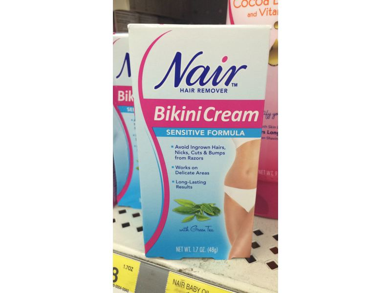 Nair Sensitive Formula Bikini Cream With Green Tea Hair Remover
