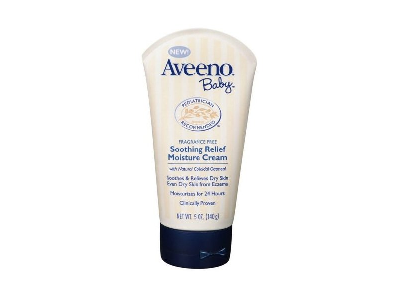 Aveeno Baby Soothing Relief Moisture Cream, Fragrance Free, 5 oz