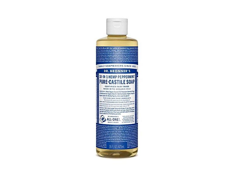 Dr. Bronner's 18-in-1 Hemp Peppermint Pure-Castile Soap, 16 fl oz