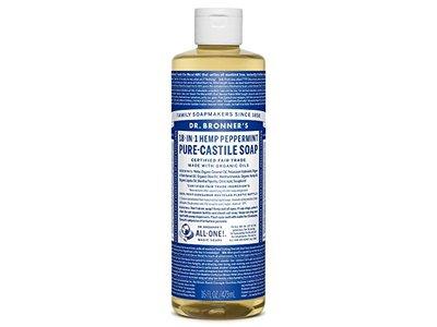 Dr. Bronner's 18-In-1 Hemp Peppermint Pure-Castile Soap, 16 fl oz/473 mL