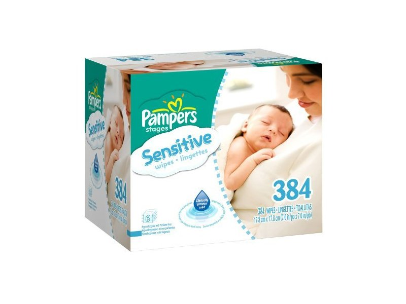 Pampers Sensitive Baby Wipes - 384 Count