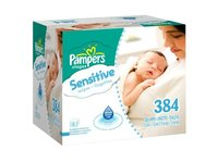 Pampers Sensitive Baby Wipes - 384 Count - Image 2