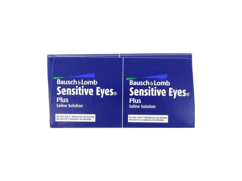 Bausch & Lomb Sensitive Eyes Plus Saline Solution 24 Oz (Pack of 8)