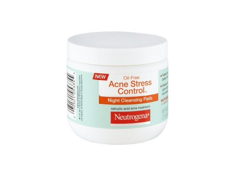 Neutrogena Oil-free Acne Stress Control Night Cleansing Pads, Johnson & Johnson