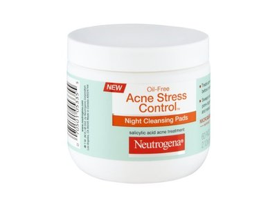 Neutrogena Oil-free Acne Stress Control Night Cleansing Pads, Johnson & Johnson - Image 1
