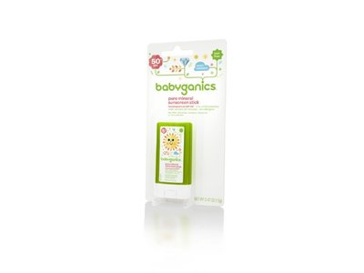 Babyganics Pure Mineral Sunscreen Stick SPF 50, 0.47-Ounce (Pack of 2), Packaging May Vary