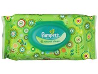Pampers Natural Clean Wipes, Travel Pack, 64 ct - Image 2