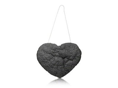The Cleansing Sponge, Charcoal Heart Shape