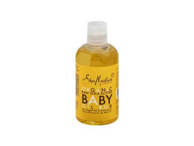 SheaMoisture Massage Oil, Baby, Raw Shea, 8 oz - Image 1
