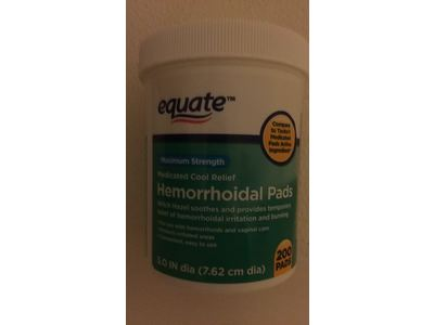 Equate Hemorrhoidal Pads, Medicated Cool Relief, Maximum Strength, 200 ct - Image 3