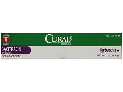 Medline Curad Bacitracin Ointment with Zinc, 1oz