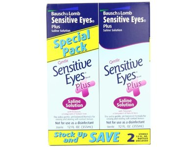 Bausch & Lomb Sensitive Eyes Plus Saline Solution 24 Oz (Pack of 8) - Image 3