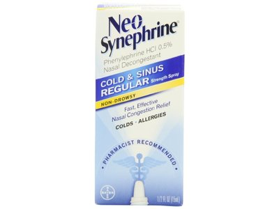 Neo-Synephrine Nasal Spray , Regular Strength Formula
