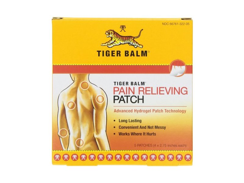 Tiger Balm Patch, Pain Relieving Patch, 4