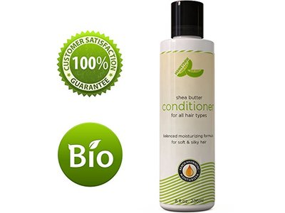 Natural Shea Butter Conditioner (Fragrance Free) with Pure African Shea Butter, Silk Peptide, and Pomegranate Blend