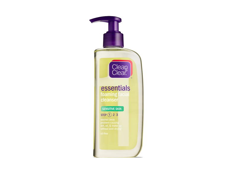 Clean & Clear Essentials Foaming Facial Cleanser Sensitive Skin, johnson & johnson