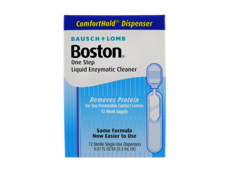 Boston One Step Liquid Enzymatic Lens Cleaner, (0.3 ml EA) 12 Count