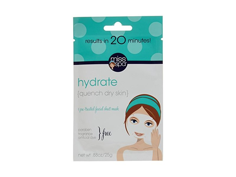 Miss Spa Hydrate Facial Sheet Mask, 0.88 Ounce