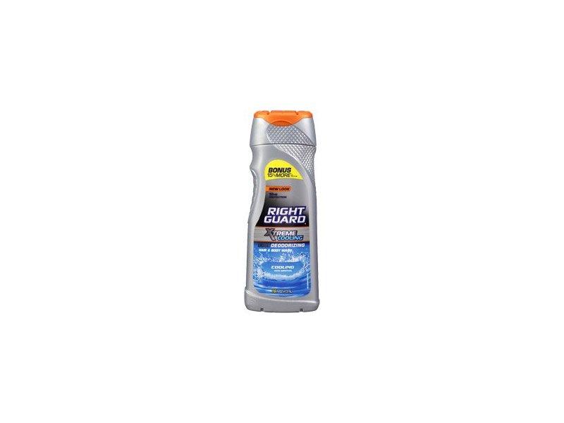 Right Guard Xtreme Cooling Deodorizing Hair & Body Wash, Cooling Menthol, 16 fl oz